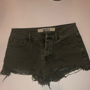 Brandy Melville Green High Waist Shorts